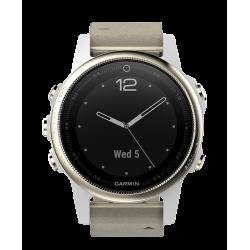Спортивные часы FENIX 5S SAPPHIRE золотистые с замшевым ремешком